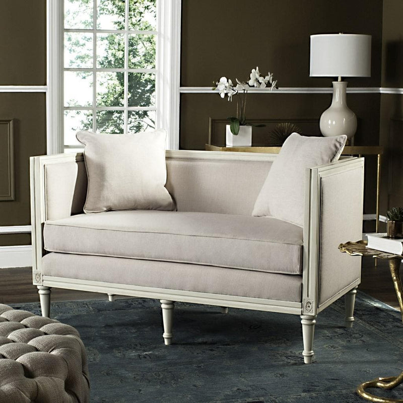 Leandra Rustic French Country Settee