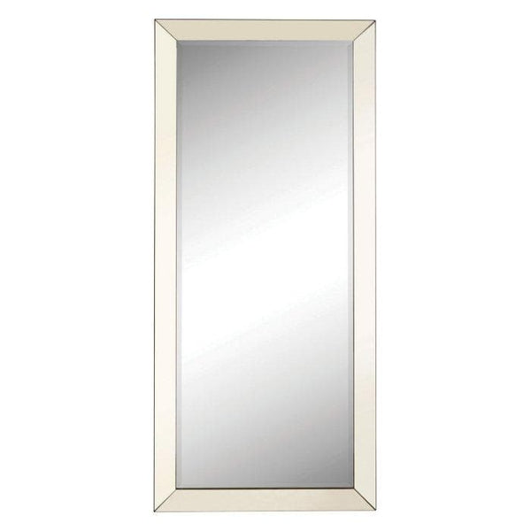 Modern Floor Mirror with Mirrored Frame - hollywood-glam-furnitures