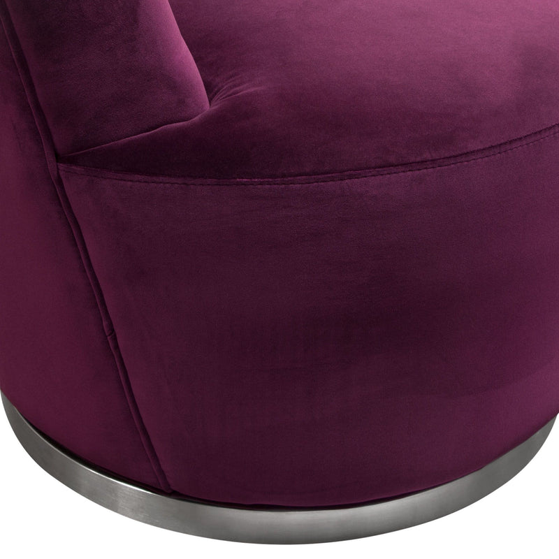 Blake Swivel Accent Chair Velvet