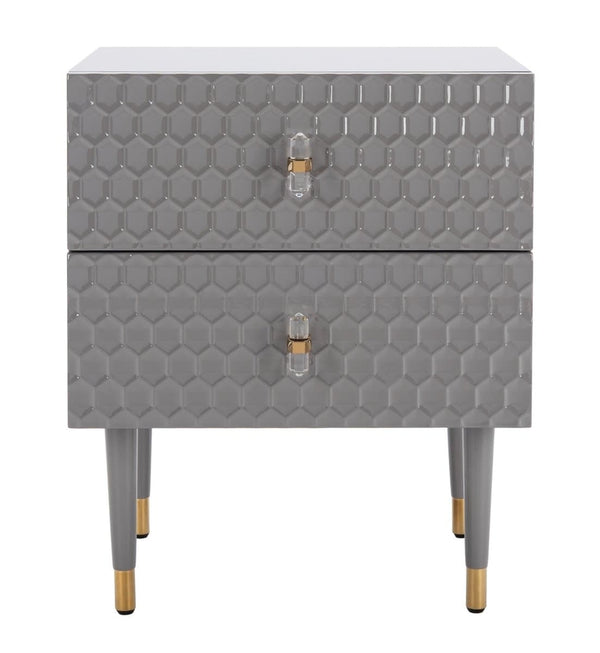 Neptune 2 Drawer  Side Table