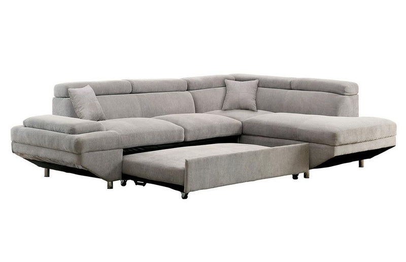 Sectional Sofa with Sleeper - hollywood-glam-furnitures