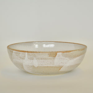 Fluted Rim Serving Bowl