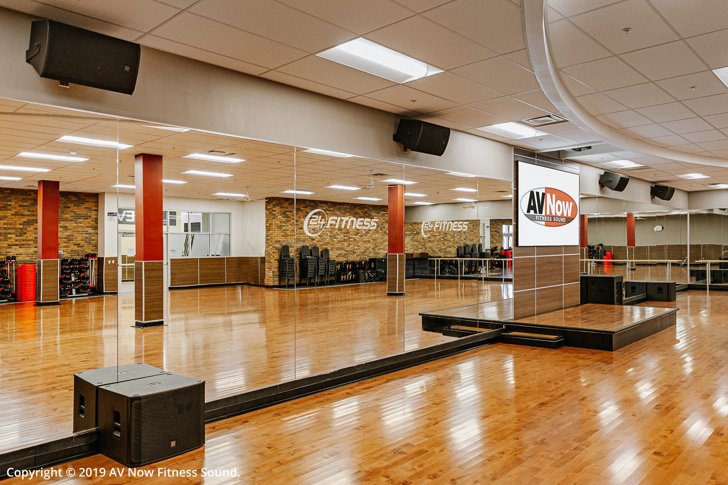 24 Hour Fitness Group X Room