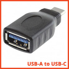 USB Type A female to USB Type C male adapter