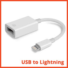 USB Type-A Female to Lightning Male adapter