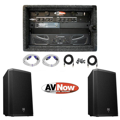 AV Now Custom Easy Buy Full Sound System For Cycling and Group Exercise Rooms