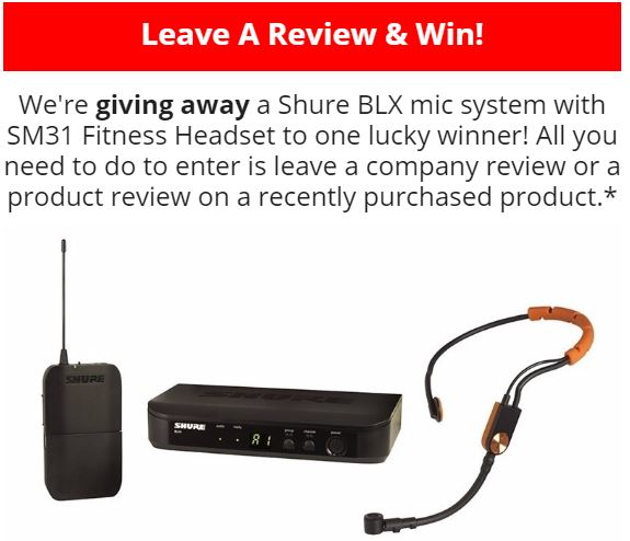 May 2017 Shure BLX Giveaway