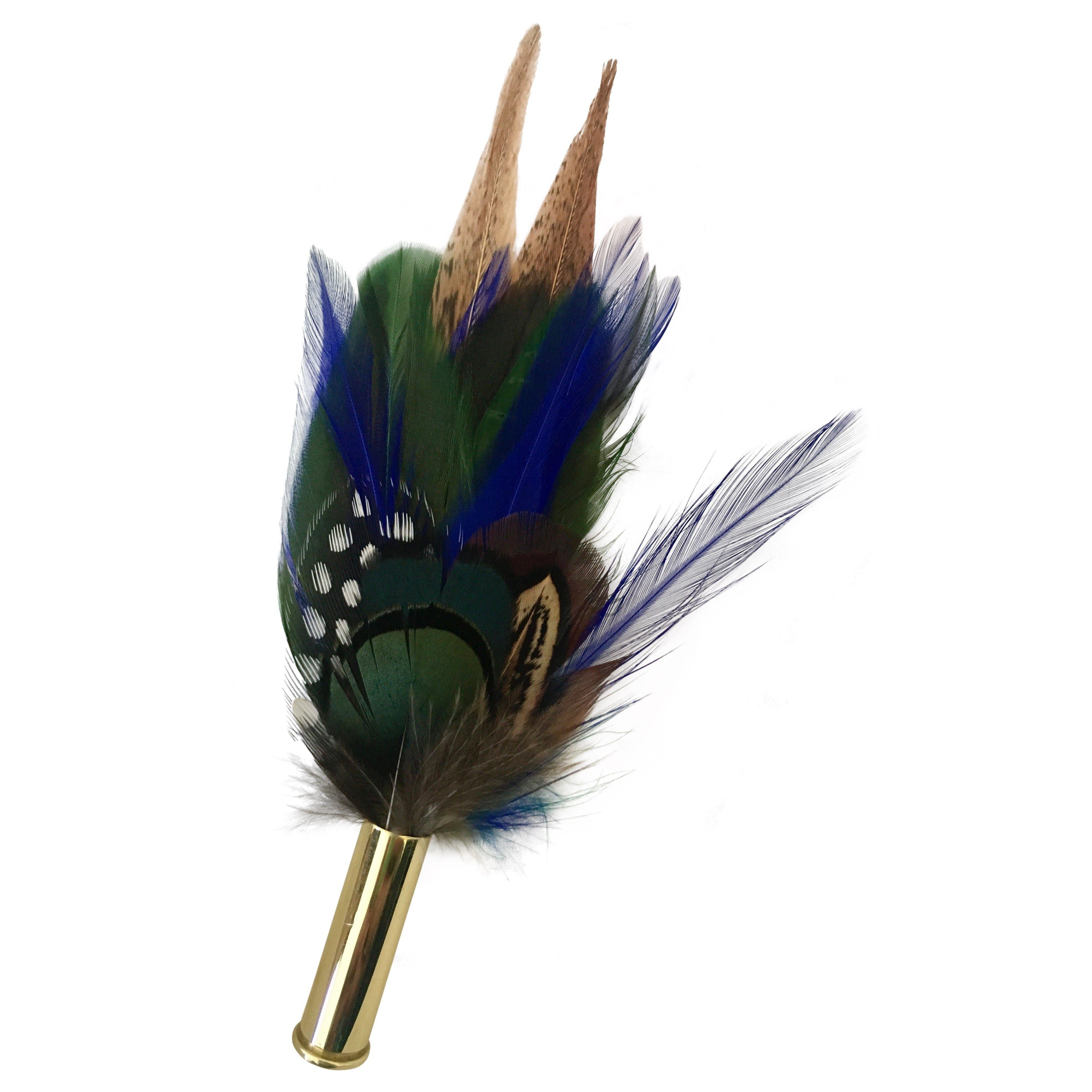 Small Feather Hat pin/brooch - Blues & Greens - Ballybar