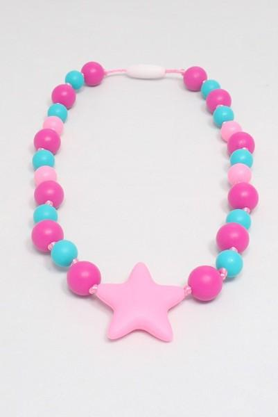Girls Starlight Collection - Fuchsia-Aqua-Pink with Star