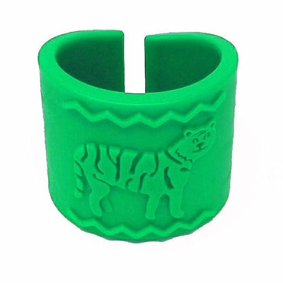 Tactile Tiger Chewable Arm Band - Green