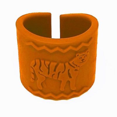 Tactile Tiger Chewable Arm Band - Orange