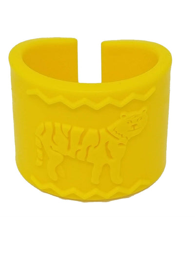 Tactile Tiger Chewable Arm Band - Yellow