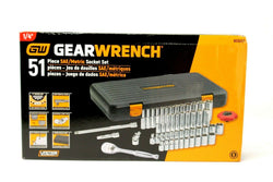"Gearwrench Socket Set, 1/4"" Drive, Metric and Standard, 51 Pieces KDT80300"