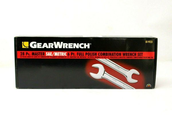 Gearwrench 28 piece 6 point Metric and SAE wrench set KDT81923