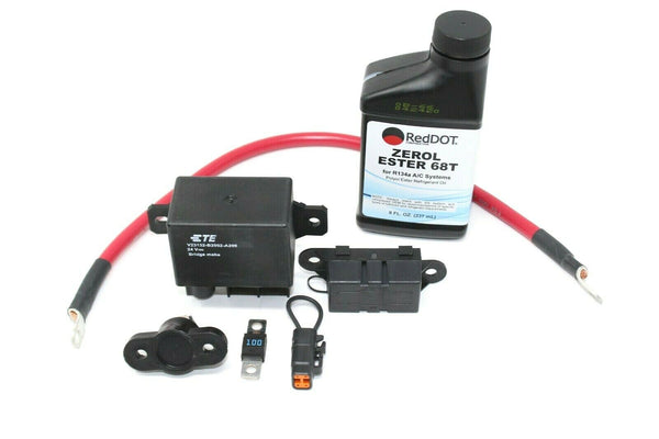 Self Contained 24vdc Electric AC compressor install kit for vehicles 75R92004