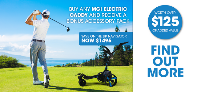 Keep Calm & Play On - MGI Electric Caddy Promotion