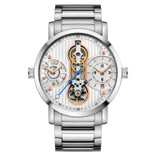 GUANQIN GJ16103 Skeleton Calendar Auto Mechanical Watches