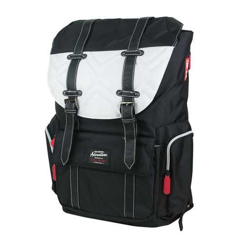 Travelers Club Heavy Duty Scout 18 Laptop Backpack - Black/White