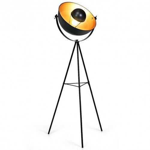 "63"" Industrial Tripod Floor Lamp with Adjustable Metal Legs"