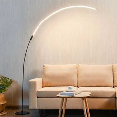 LED Arc Floor Lamp with 3 Brightness Levels-Black
