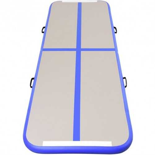 Air Track Inflatable Gymnastics Tumbling Floor Mats with Pump-Blue