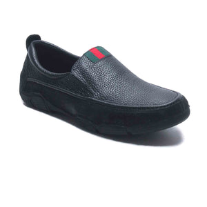 Albert Men's Casual Moccasins - Black - Slip ons - Pavers England