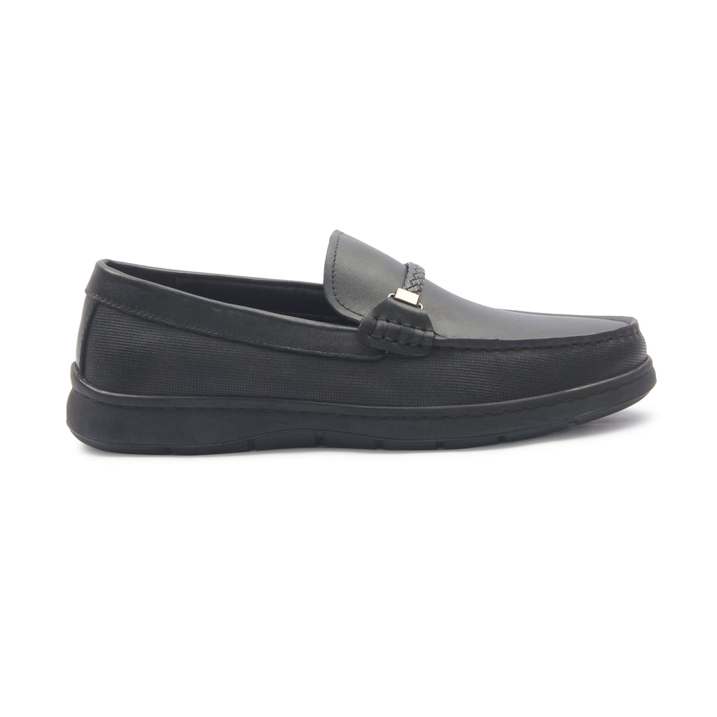 Men's Penny Loafers for Formal Wear-Black - Slip ons - Pavers England