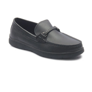 Men's Penny Loafers for Formal Wear - Black - Smart Casuals - Pavers England