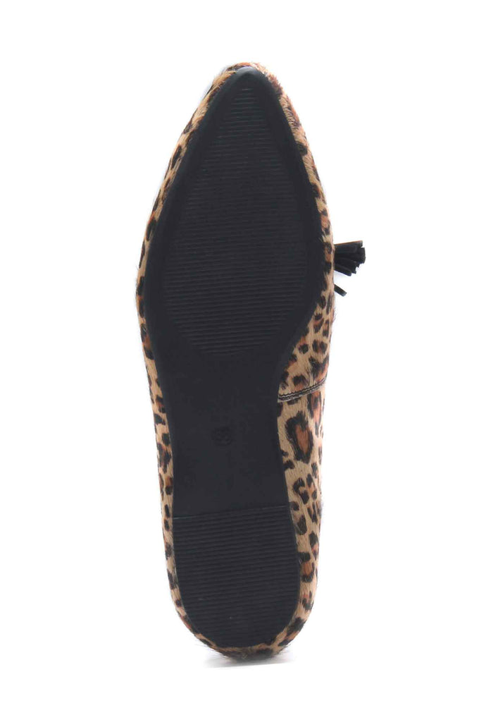 Katy Women's Leopard Print Ballerinas - Tan Multi - Pumps - Pavers England