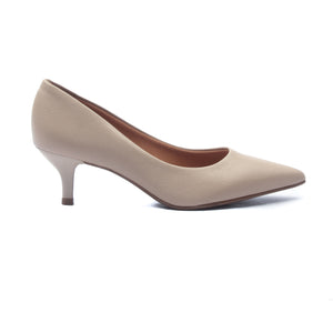 Women's Kitten Heel Pumps - Beige - Heels - Pavers England