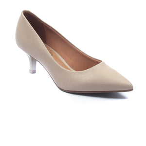Women's Kitten Heel Pumps-Beige - Heels - Pavers England