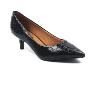 Women's Textured Kitten Heel Pumps - Heels - Pavers England
