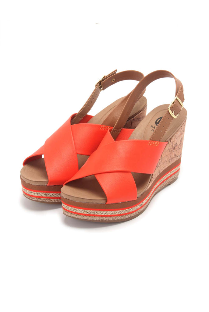 Cork Wedges with Buckle Closure