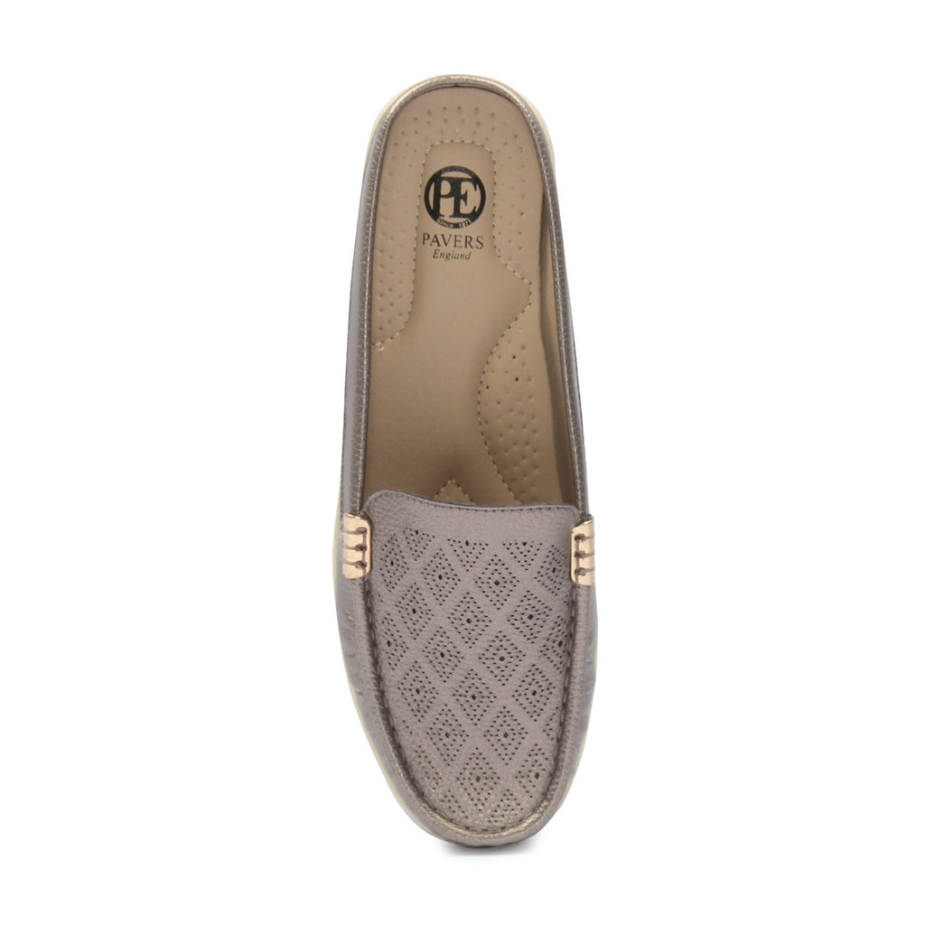 Women's Patterned Half Shoes - Mules - Pavers England