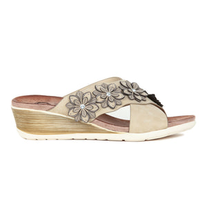 Embellished PU wedges for Women - Mule - Pavers England