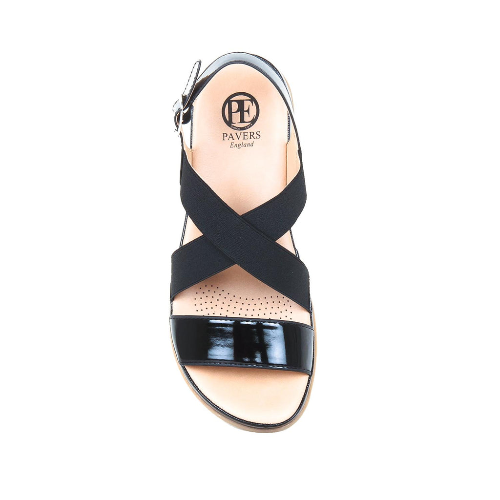 PU Sandals for Women - Black - Sandals - Pavers England