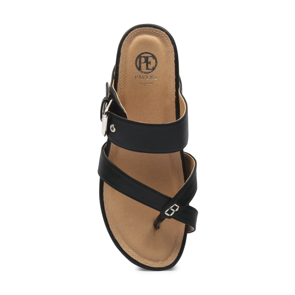 Women's Toepost Slippers-Black - Toeposts - Pavers England