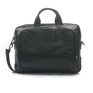 Men's Leather Laptop Bag-Black - Bags & Accessories - Pavers England