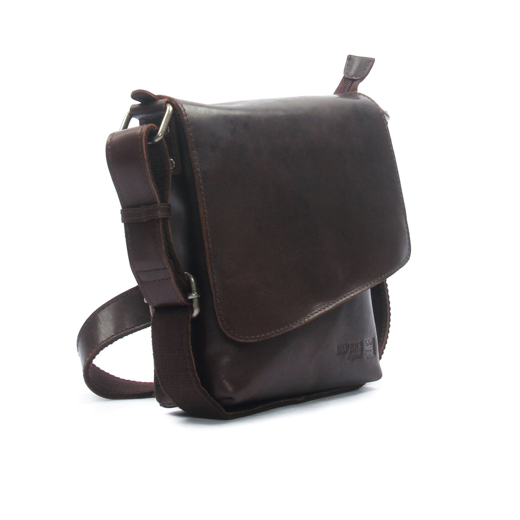 Men's Leather Messenger Bag - Brown - Bags & Accessories - Pavers England