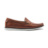 Men's Penny Loafers - Brown - Moccasins - Pavers England