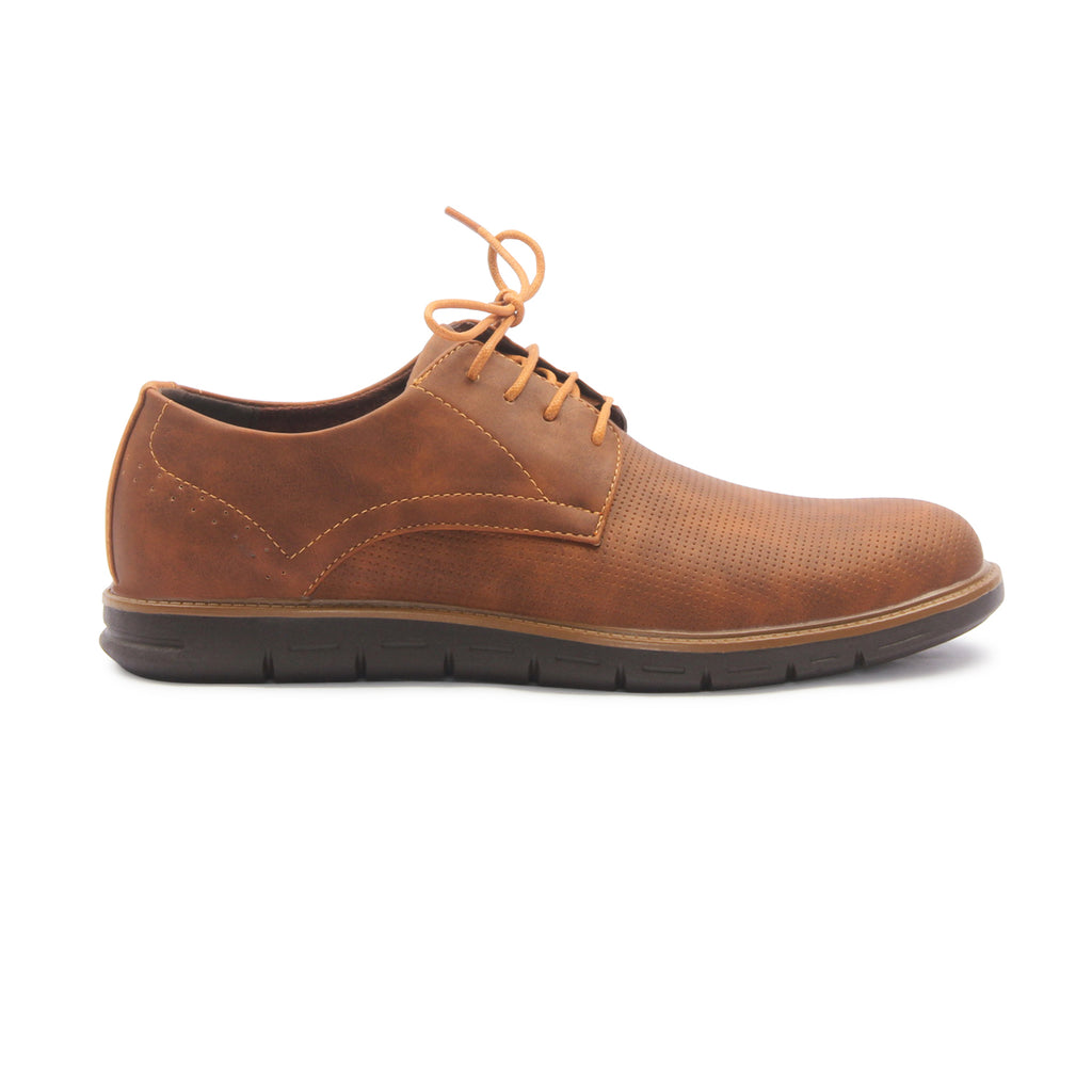 Men's Lace Up Derby Shoes for Casual Wear - Brown - Laced Shoes - Pavers England