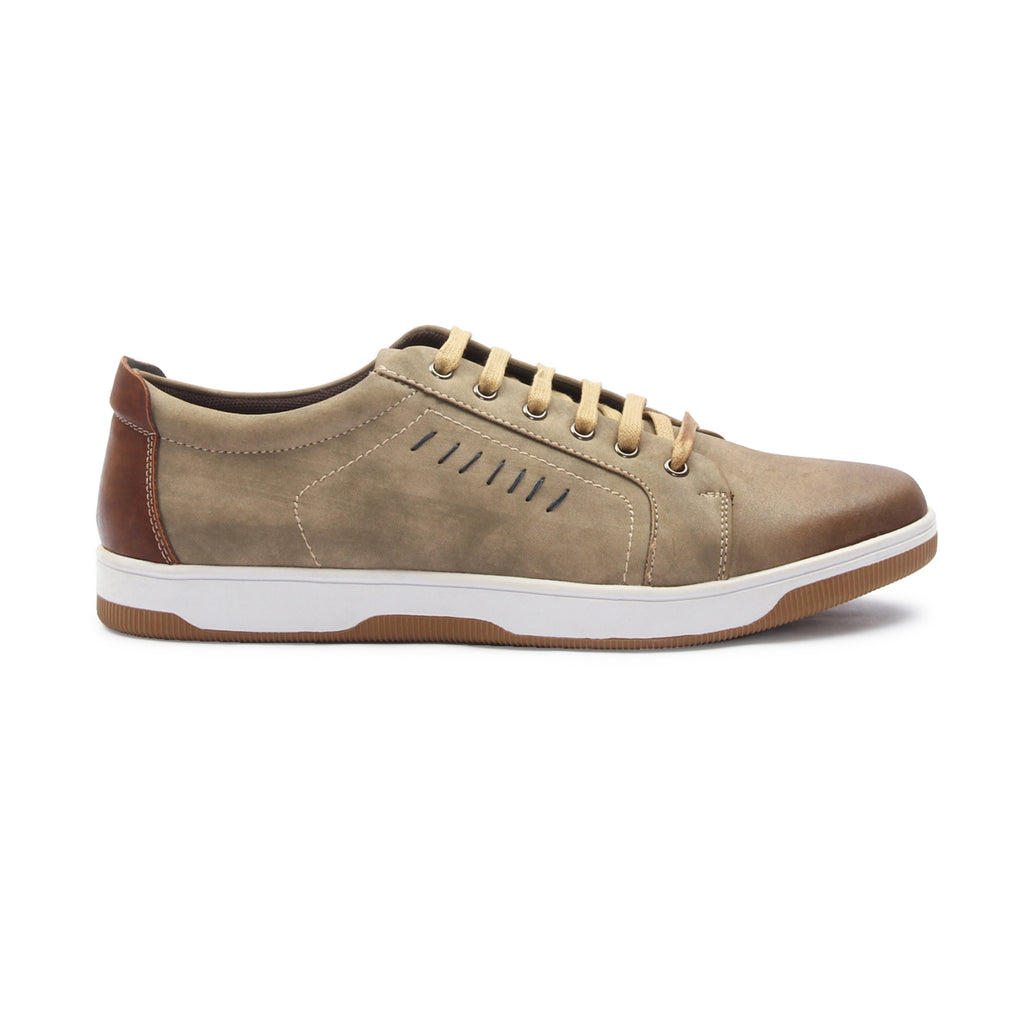 Men's Lace Up Sneakers for Casual Wear-Olive - Sneakers - Pavers England