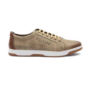 Men's Lace Up Sneakers for Casual Wear - Olive - Sneakers - Pavers England