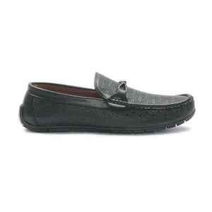 Men's Bit Loafers for Party Wear - Black - Moccasins - Pavers England