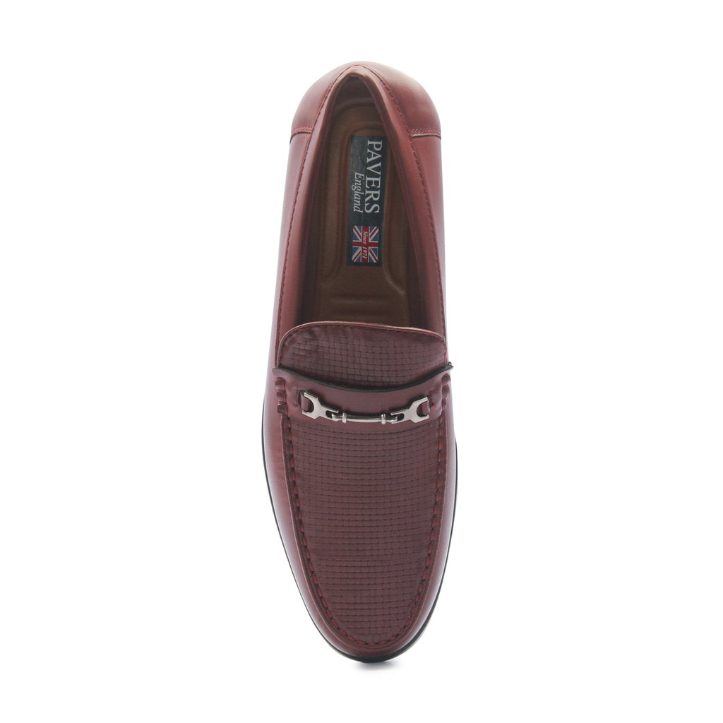 Men's Bit Loafers for Formal Wear - Wine - Formal Loafers - Pavers England
