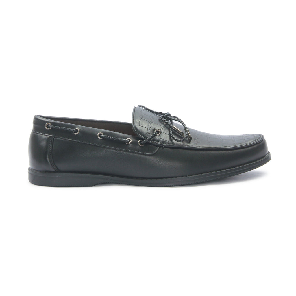 Men's Tassel Loafers for Formal Wear - Black - Smart Casuals - Pavers England
