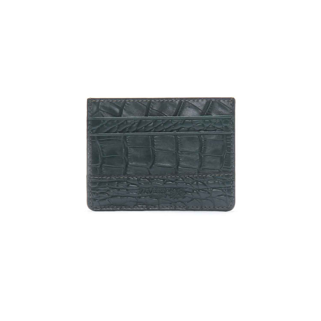 Men's Crocodile Textured Card Holder - Bags & Accessories - Pavers England