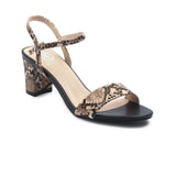 Women's Snake Printed Heels - Beige - Wedding & Occasion - Pavers England