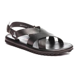 Casual Leather Sandals for Men - Black
