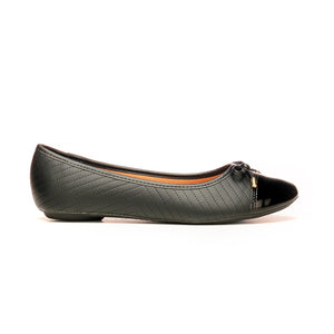 Ballerina Flats with Bow for Women - Black